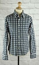 "ABERCROMBIE & FITCH MUSCLE BLUE CHECK LONG SLEEVE SHIRT - SMALL 36-38"" CHEST"