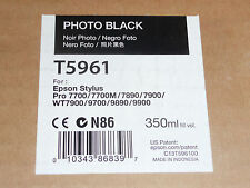 Genuine Epson T5961 Photo Black Ink Pro 7700/7890/7900/9700/9890/9900 350ml 2015