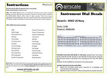 Airscale Instrument Dial Decals 1/48 08, WWII Carrier Aircraft Applications ST