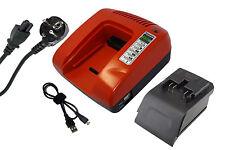 PowerSmart Ladegerät für Ryobi BDM-143 BID-142 BIW-1465 BFL-140 BID-1421, Rot