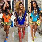 Women's African Dashiki Shirt Party Dress Kaftan Boho Hippe Gypsy Festival Tops