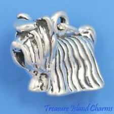 YORKSHIRE TERRIER YORKIE DOG BREED 3D .925 Sterling Silver Charm