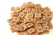 Scrabble 100 Holz Buchstaben&Zahlen Ersatzteile Ziegeln Spielzubehör Brettspiel