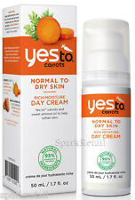 Yes To Carrots Organic Rich Moisture Day Cream Moisturiser 50ml Normal/Dry Skin