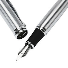 JinHao X750 Ultra Smooth Silver CT Fountain Bussiness Pen Writing Pen Y2