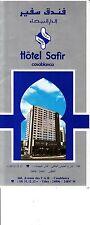 Hotel Safir Casablanca 160 Avenue des F.A.R. Morocco Vintage Brochure