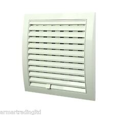 "Air Vent Grille 250mm x 250mm / 10"" x 10 inch with Adjustable Shutter Grid POW54"