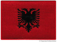 ALBANIA FLAG embroidered iron-on PATCH ALBANIAN EMBLEM applique souvenir