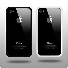 Black & White Bumper Twin Pack cases for Apple iPhone 4 and 4s UK Seller