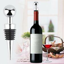 New Alloy Metal Round Rubber Seal Rings Red Wine Bottle Stopper Bar Tools IM