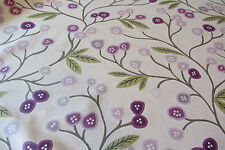 Java Mulberry Floral Cotton Curtain Fabric 3.4m