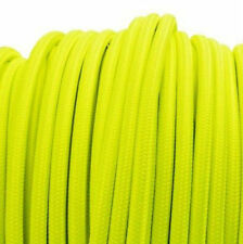 FLOURO YELLOW vintage style textile fabric electrical cord neon cloth cable