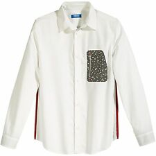Adidas Originals Adventure Zip Pocket Button-Down Shirt White/Camo XL M69342