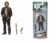 "THE WALKING DEAD TV SERIES 8 RICK GRIMES ACTION FIGURE 5"" TALL McFARLANE AMC"