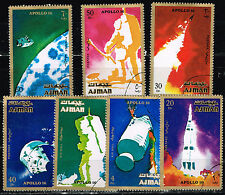 Ajman US Space Moon Explorers Apollo 16 1972 stamps set