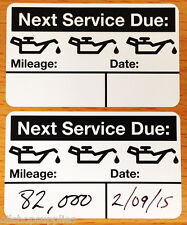 Oil Change Reminder Stickers (500+ Count) Free Sharpie With Order!