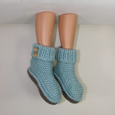PRINTED INSTRUCTIONS-2 BUTTON SUPER CHUNKY SLIPPER BOOTS KNITTING PATTERN
