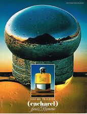 PUBLICITE ADVERTISING 035  1990  CACHAREL   eau de toilette pour homme