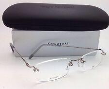 KAZUO KAWASAKI Eyeglasses MP 631 04 NL/50 Rimless Titanium Pewter/Silver Frames