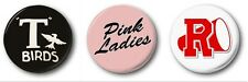 GREASE COLLECTION  - 3 x 1 inch / 25mm Button Badges - Pink Ladies T-Birds