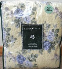 3 PC NEW Laura Ashley Linley Yellow Full Queen Quilt and Pair Standard shams