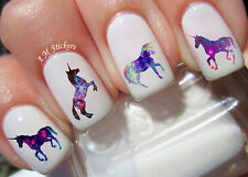 Galaxy Unicorn Nail Art Stickers Transfers Decals Set of 40