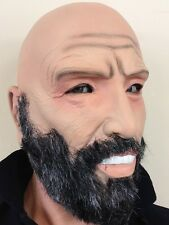 Old Man Mask Grey Beard Bald Head Grandad Grandpa Latex Fancy Stag Party