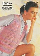 Studley Designer Collection Pastiche KNITTING PATTERN waistcoat 1499