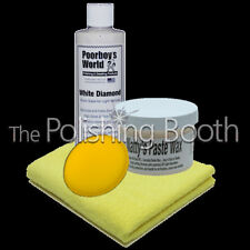 Poorboys World Natty's White Paste Wax, White Diamond Show Glaze Kit  NEW