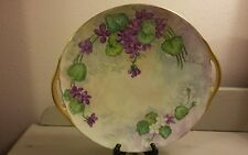 "Antique Bernardaud Limoge France Hand Painted Platter 10 1/2"" Signed 1912"
