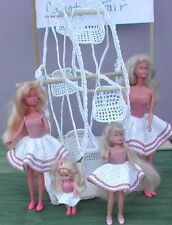 CROCHET FASHION DOLL PATTERN-ICS DESIGNS-272 SISTERS ON THE FERRIS WHEEL