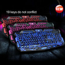 M200 Gaming Tastatur USB Illuminated  3-Farbe Led Backlit Keyboard Für Gamer Neu