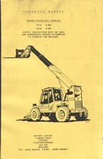 Matbro Telescopic Handler 3024 & 3034 Operators Manual