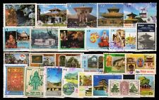 Hindu Temples on Nepal Stamps-25 All Different Used Thematic Stamps