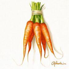 Paolo Golinelli: CaRote Fertig-Bild 30x30 Möhren Gemüse Küche Essen