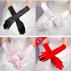 Ladies Long Satin Gloves Opera Party Costume Wedding Bridal Prom Womens Fancy