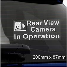 1 x Rear View Camera In Operation-Warning Sticker-CCTV Sign-Go Pro-Car,Taxi,Cab