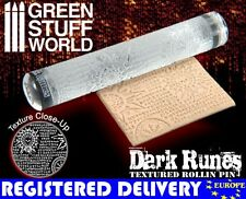 Rolling Pin - Dark RUNES runic Texture - for Warhammer and miniature bases