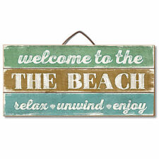 WELCOME TO THE BEACH,Relax,Nautical,Reclaimed Pallet Pine Wood Sign Hang /Easel