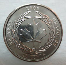 2006 CANADA 25¢ MEDAL OF BRAVERY BRILLIANT UNCIRCULATED