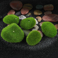 5PCS Green Aquarium Fish Tank Artificial Plastic Plant Grass Moss Decoration