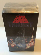 STAR WARS TRILOGY USA FIRST EDITION 1990 CBS FOX VIDEO SET NEW ORIGINAL SEALED