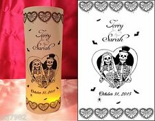 10 Personalized Skeletons Halloween Luminaries Wedding Centerpieces Decorations
