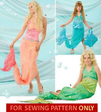 SEWING PATTERN! MAKE ARIEL~LITTLE MERMAID PRINCESS COSTUME! CHILD 2~4/GIRLS 8~12