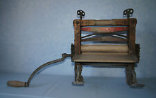 American Wringer Co Rival Horseshoe brand wood clothes wringer #100 Pat 1888