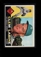 1960 TOPPS #29 CLEM LABINE AUTHENTIC ON CARD AUTOGRAPH SIGNATURE AX1964