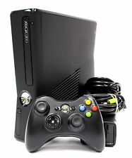 Microsoft XBOX 360 S Slim 1439 250GB Matte Black Gaming Console + EXTRAS / GOOD
