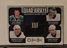 2007 - 2008 O-PEE-CHEE Materials Quad Jerseys: Authentic Game Used