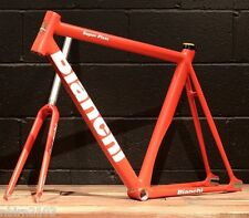 New 2016 Bianchi Super Pista 61 CM Frameset Red Track Bicycle Frame Fork