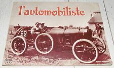 L'AUTOMOBILISTE 1969 N°13 MOTO KOEHLER ESCOFFIER FIAT 509 PEUGEOT 1911 WIMILLE